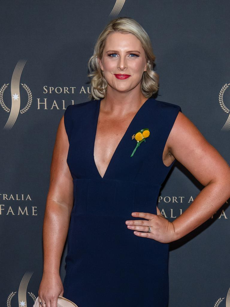 Leisel Jones at the 2019 Sport Australian Hall of Fame red carpet. Picture: Jason Edwards