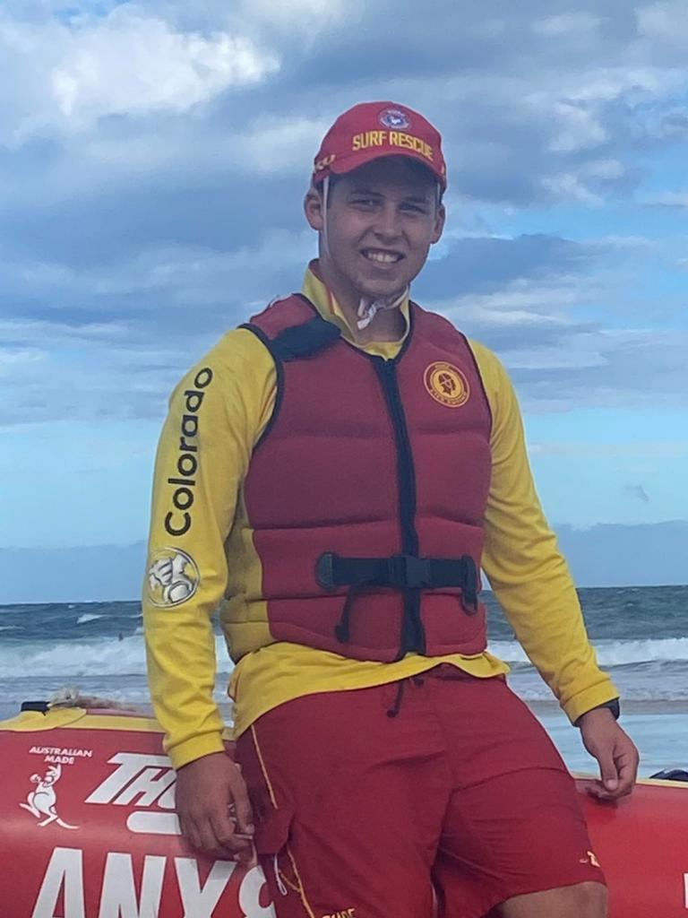 Metropolitan Caloundra's Cameron Ray has topped the list for beach patrol hours.