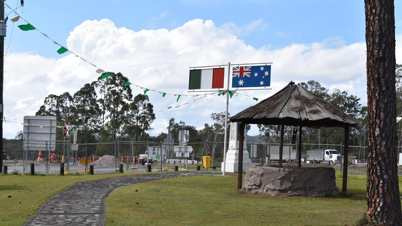 New Italy during construction of the Pacific Highway upgrade. Now plans for a service centre next door are progressing.