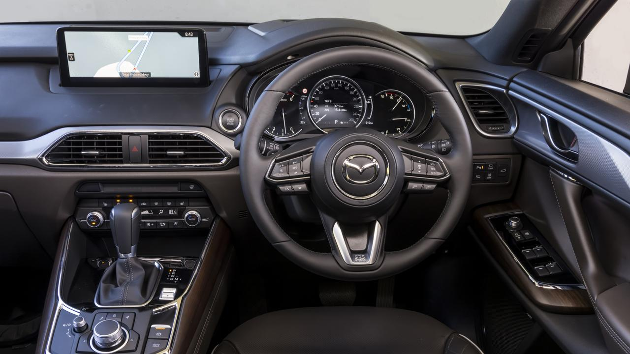Mazda's cabin is impressively polished with top-shelf materials used throughout.