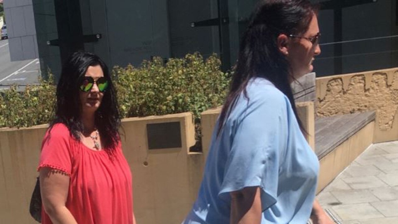 Melanie Middleton (left) was found guilty of assault while sister Natalie Middleton was found not guilty.