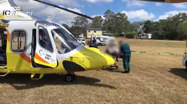 South Burnett man flown to hospital to have metal rod removed from leg
