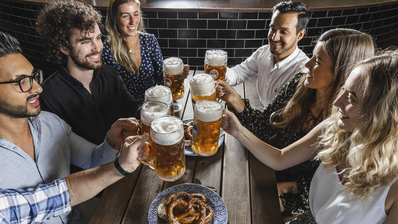 The Bavarian in Mackay has decided every month is Oktoberfest – well the first Saturday of each month anyway. Picture: Jared Vethaak