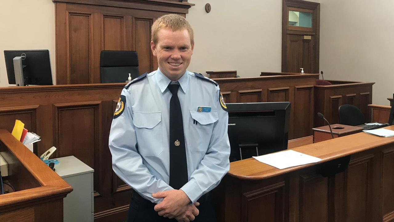 Daniel Haig is handing in his Sheriff's uniform to become a lawyer at Lismore Courthouse.
