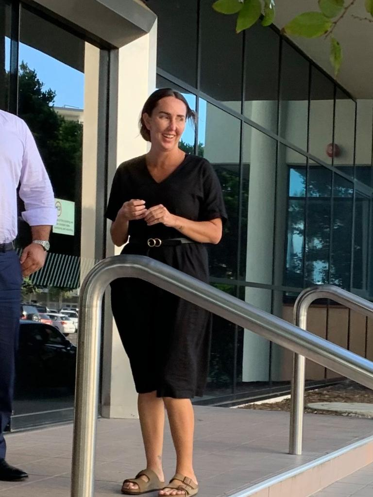Katrina Patricia Nadine Gorrie leaves Maroochydore Court House on Wednesday.