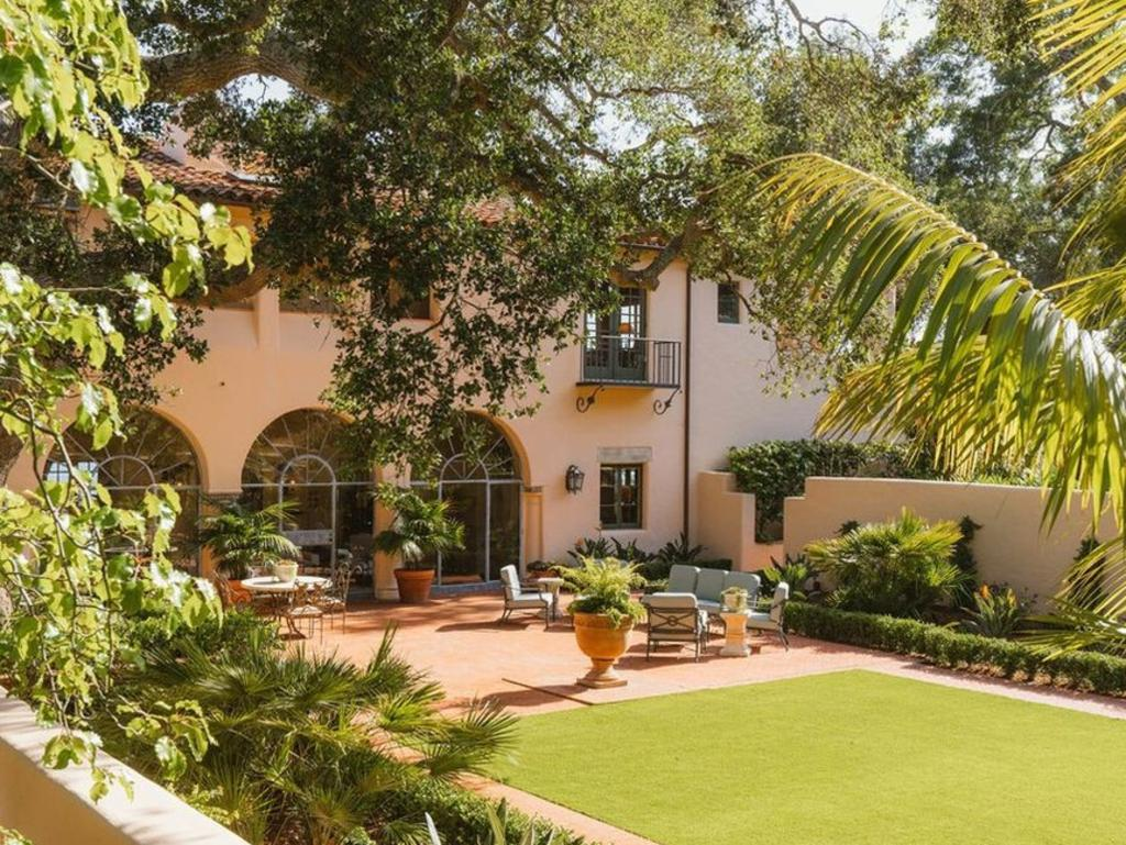 The lush backyard and manicured gardens. Picture: Realtor