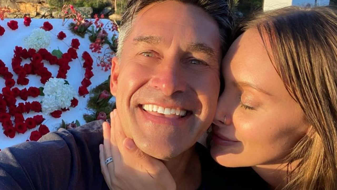 "The Aussie television host has announced his ""magical"" engagement on Instagram, designing a custom ring for his future wife."