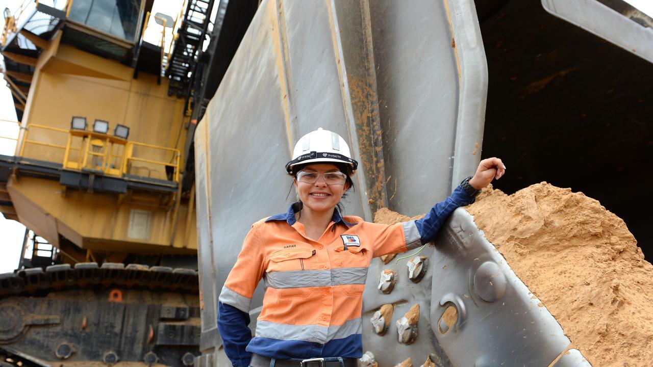 Shovel operator Sarah Engel at BMA's Caval Ridge coal mine near Moranbah.