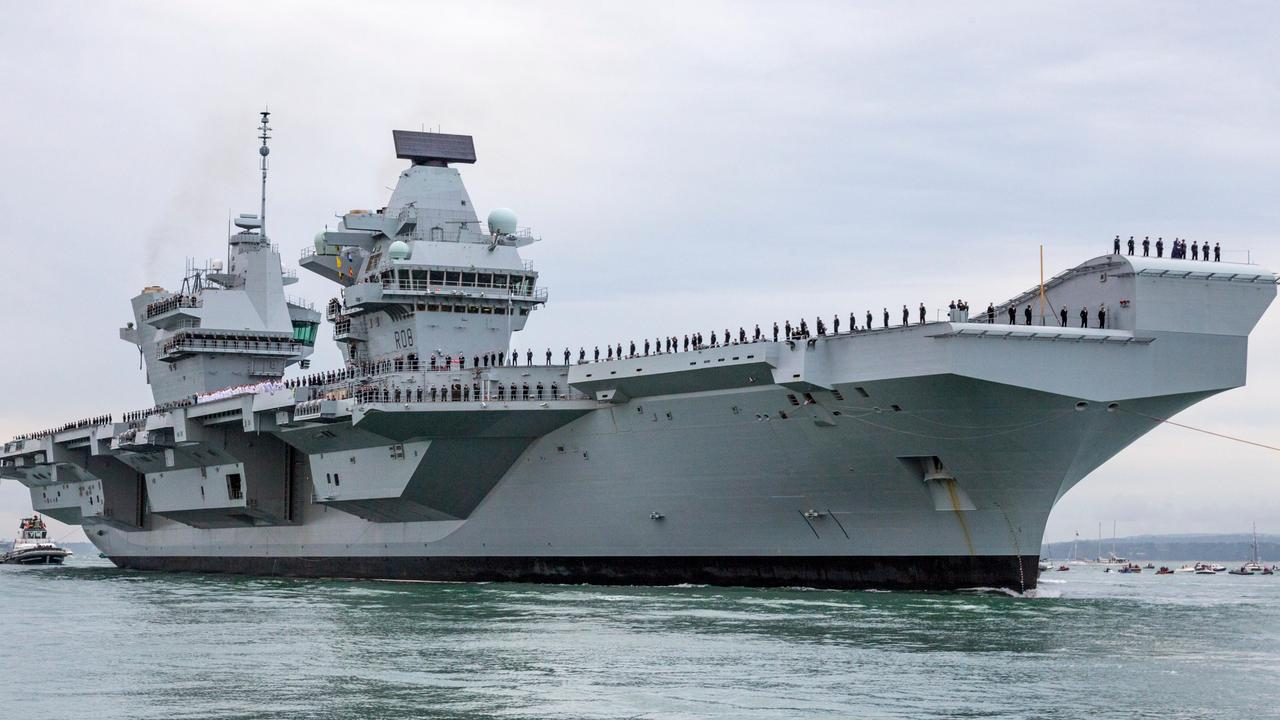 The aircraft carrier HMS Queen Elizabeth.