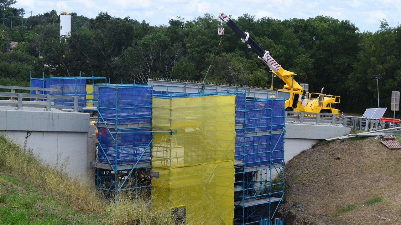 Repair works on the infamous Normanby Bridge overpass in Gympie are on track for timely completion. Pictures: Josh Preston
