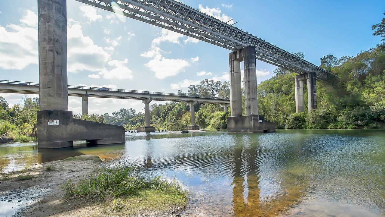 Platypus Beach, a popular swimming spot under the bridge at Mirani. Picture: Mackay Regional Council