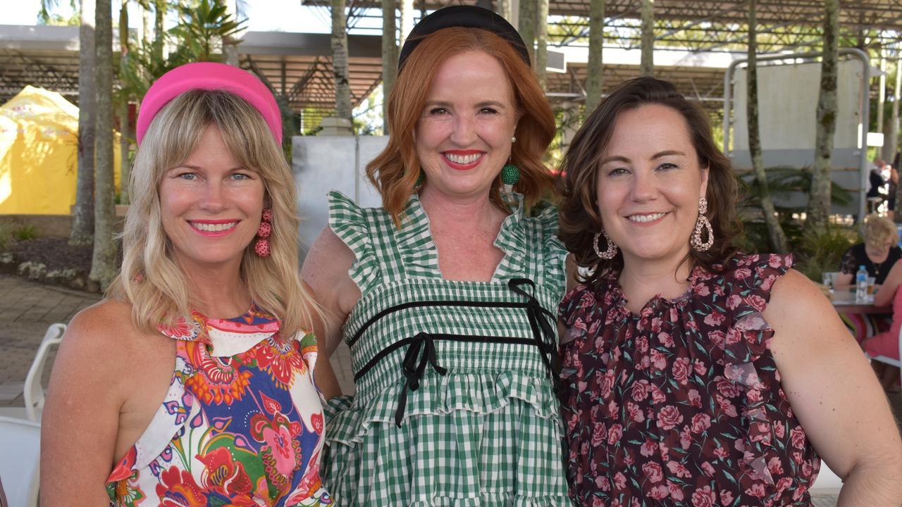 Shey Lemcke, Heidi Kohler and Sandra Heiner enjoying the races at the Sunshine Coast Turf Club.