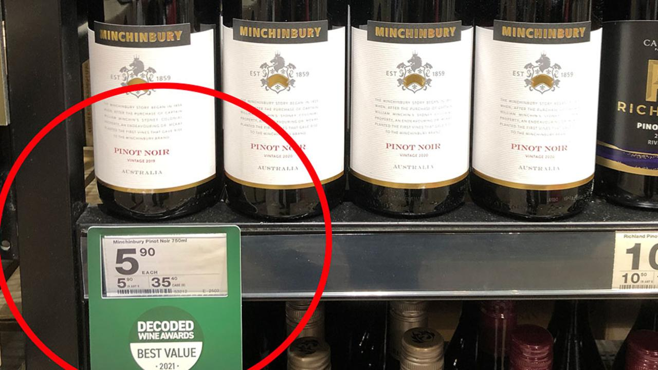 $5.90 Pinot among the best wines for under $20 at Dan Murphy's. Picture: Supplied