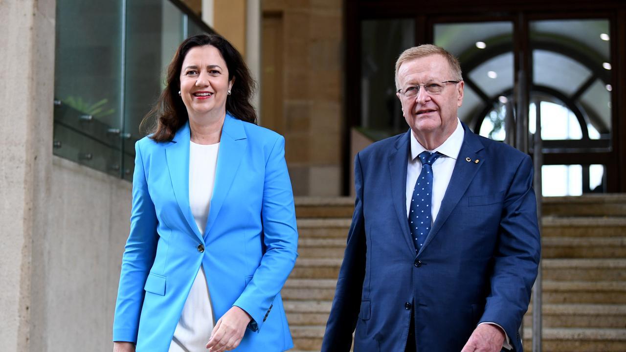 Premier Annastacia Palaszczuk and Australian Olympic Committee President John Coates.