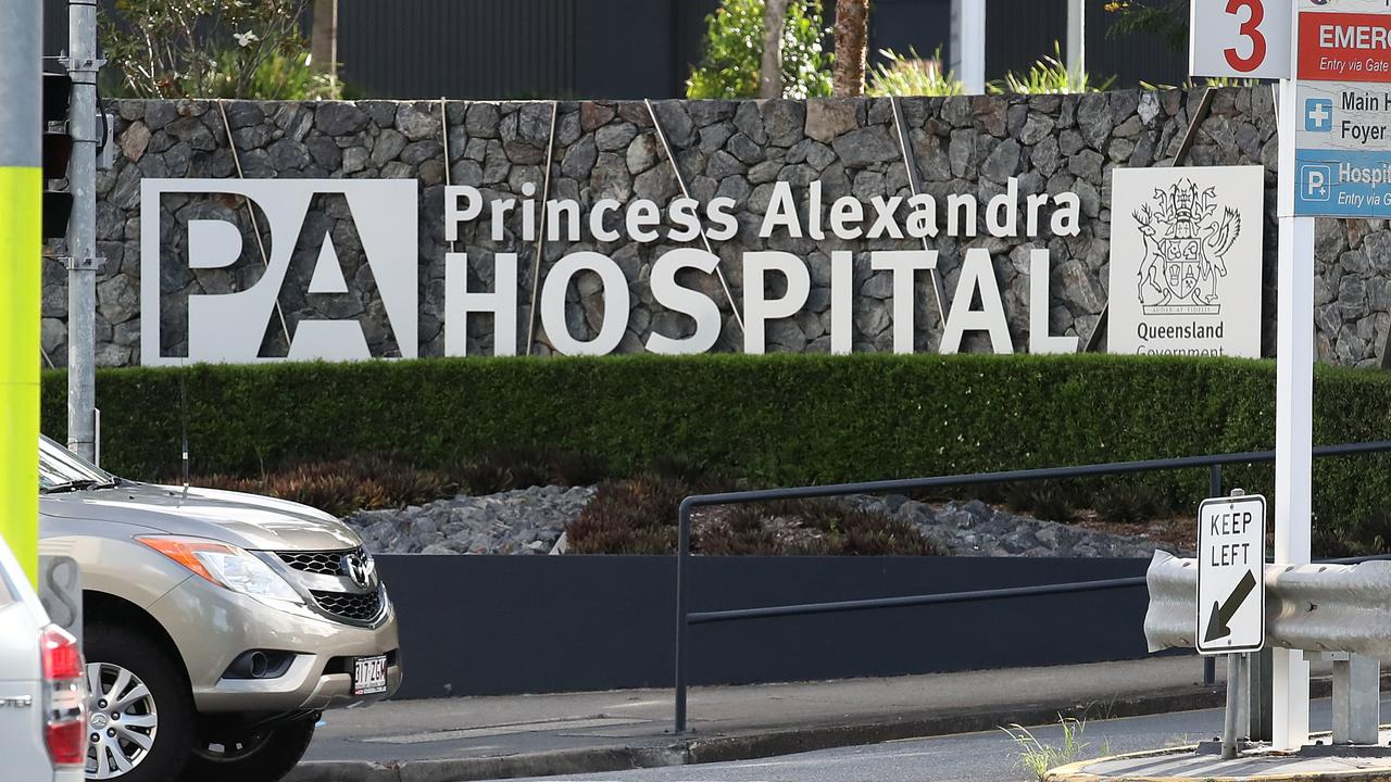 A motorbike rider was taken to the Princess Alexandra Hospital after colliding with a car in Redbank on Saturday night.