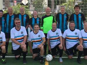 Team sports-lovers step back on field for walking football