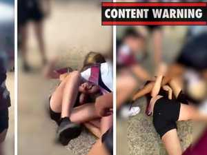'F***ing smash her': Footage emerges from ugly school brawl