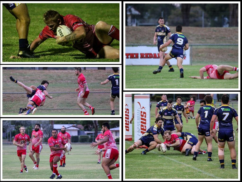 Kingaroy's Red Ants took on Across the Waves Bundaberg at last night's pre-season trial match. Photo/Dominic Elsome.