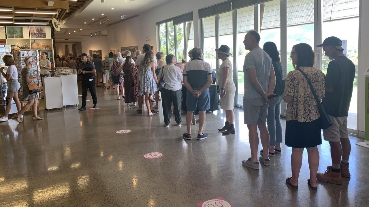 There were big numbers of visitors at the Tweed Regional Gallery on Sunday, February 28, as the Archibald Prize heads into its final week in the region. Picture: Liana Boss