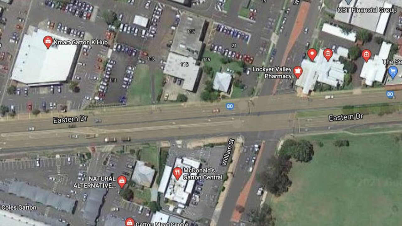 Satellite view of the Speccer and William Street intersection where Ms Fiori failed to stop.