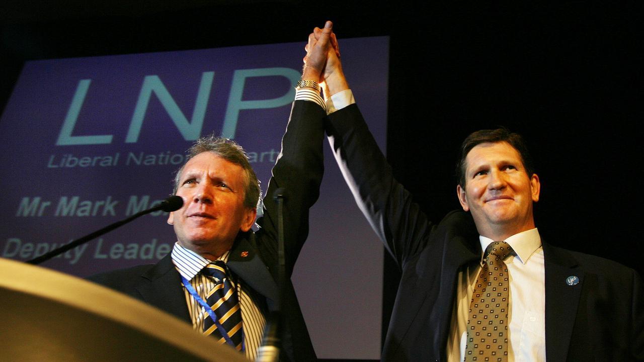 Former Liberal National Party deputy leader Mark McArdle and former leader Lawrence Springborg.