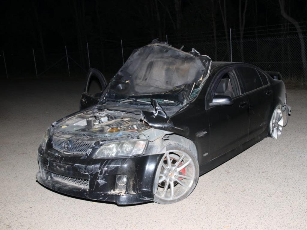 Black Holden Commodore, allegedly used in Gympie shotgun spree
