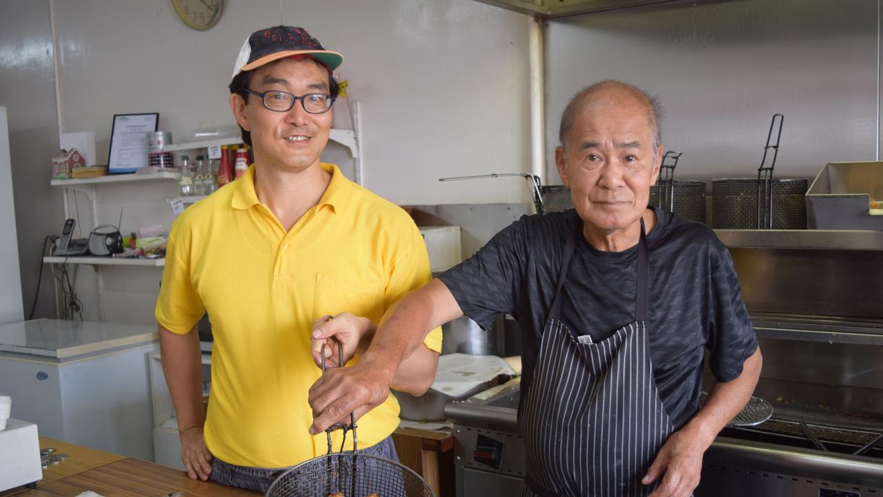 BUSY BEE FISH BAR: Andrew Wong with father Kent Wong of Busy Bee Fish Bar on Targo St.