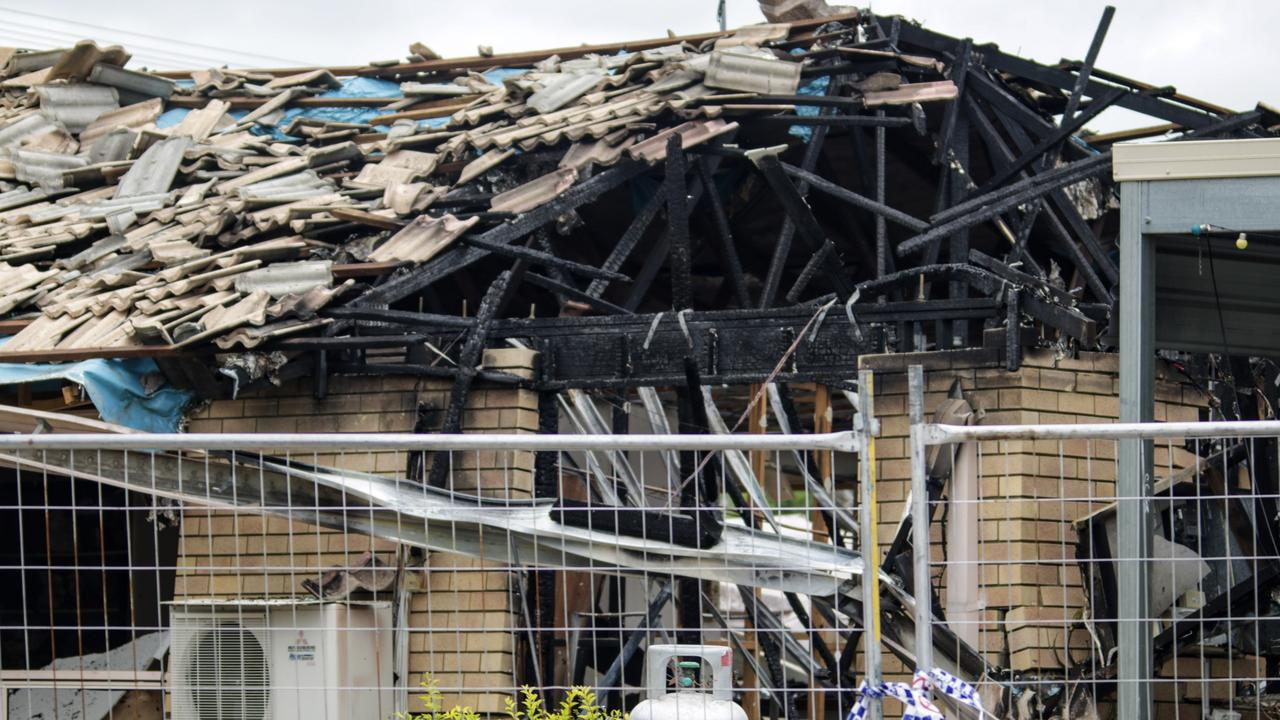 Aftermath of gas explosion in a home on Goodchild Dr, Murgon, February 28, 2021. Picture: Dominic Elsome