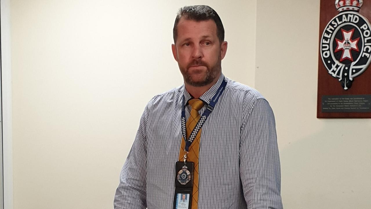 Rockhampton CIB Officer in Charge Detective Senior Sergeant Luke Peachey. Picture: Aden Stokes