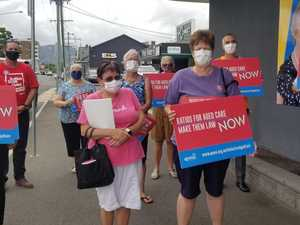 Rocky union rally in wake of aged care Royal Commission