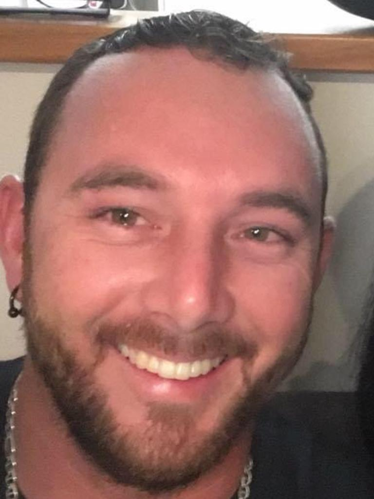 Mackay father Aaron Thomas Harman pleaded trembled as he appeared in Mackay Magistrates Court over a brutal road rage attack over a water splash.