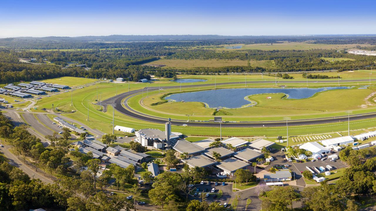 Works on the $8.9 million new synthetic track project at the Sunshine Coast Turf Club started on Monday. Picture SCTC
