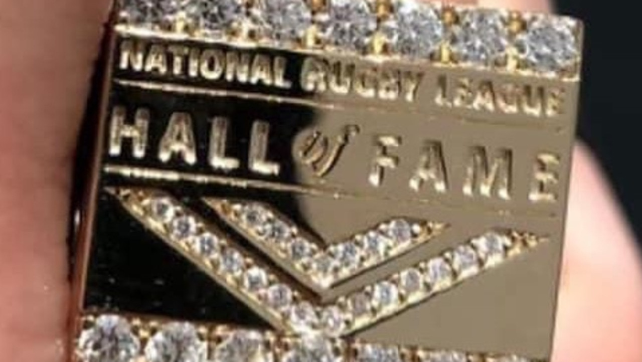The NRL Hall of Fame ring. Picture: Instagram.