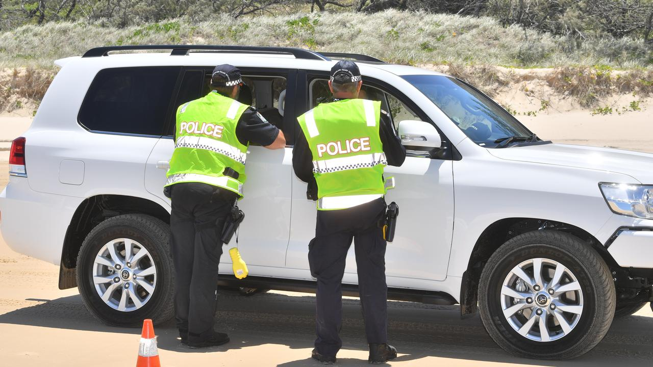 Police also conduct alcohol, drug and speed testing of drivers on beaches where motorists are permitted to drive. Photo: John McCutcheon
