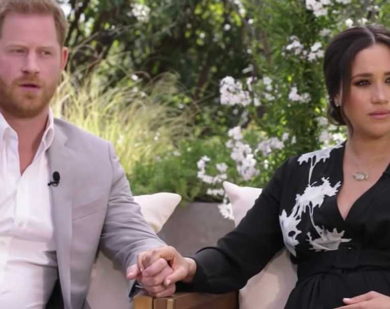 The first look at Meghan and Harry's Oprah interview has landed. Picture: CBS
