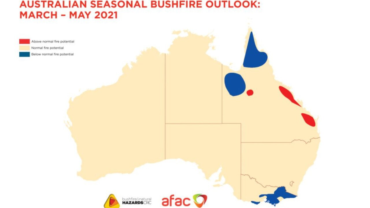 The region has an increased risk of bushfires occurring over the coming months.