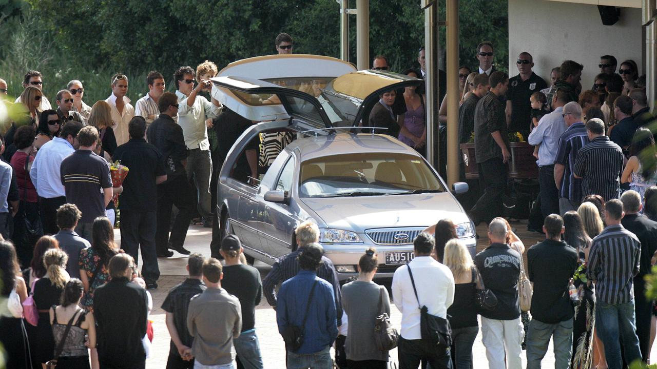 The Funeral of road Rage shooting victim Omega Ruston at Allambe Garden of Memories at Nerang.