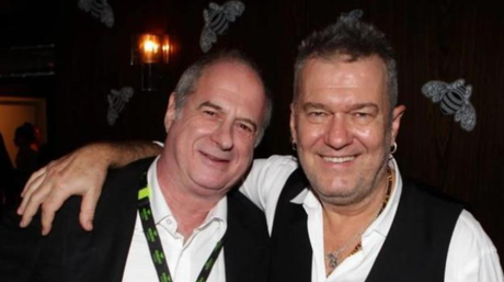 Jimmy Barnes paid tribute to Gudinski (left) today. Picture: Dallas KilponenSource:Supplied