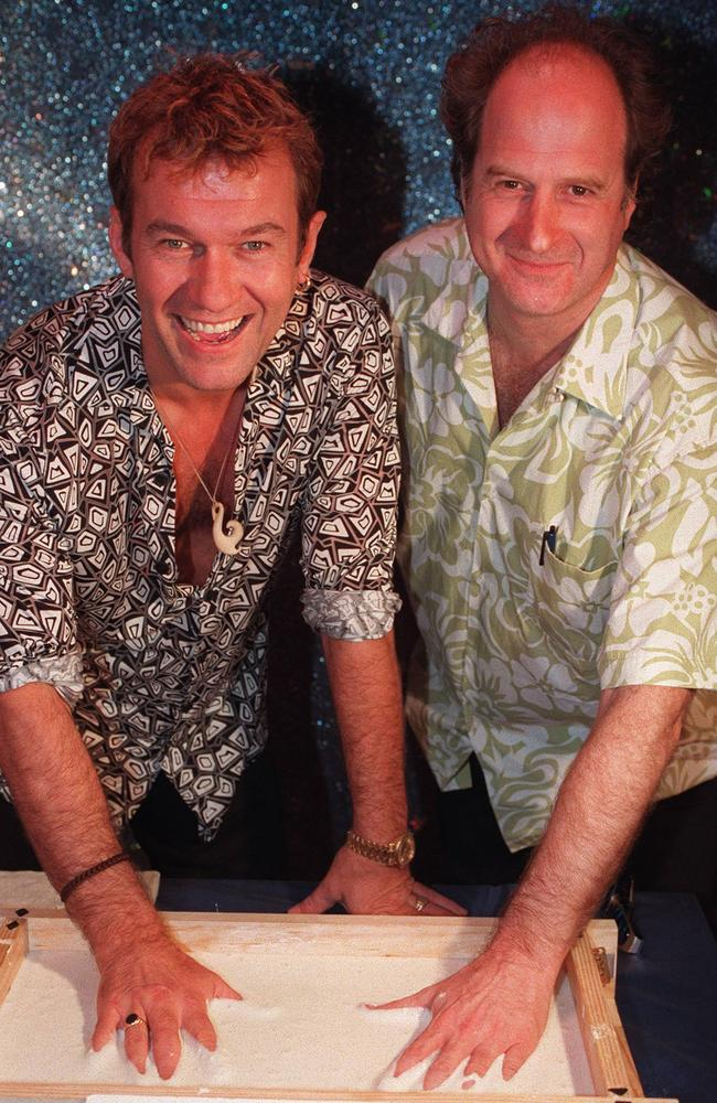 Jimmy Barnes and Michael Gudinski in 1997.