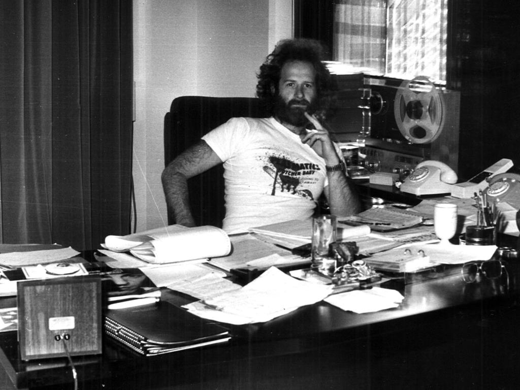 At his desk – the Mushroom boss, in 1981.