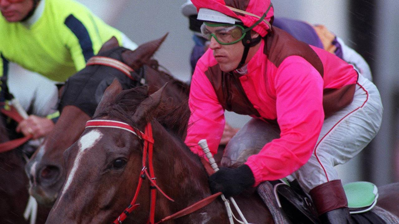 Matthew Privato aboard racehorse 'Lutesong' during Race 5 at Randwick Racecourse in Sydney, pictured here in 1996. Photo: Greg Porteous