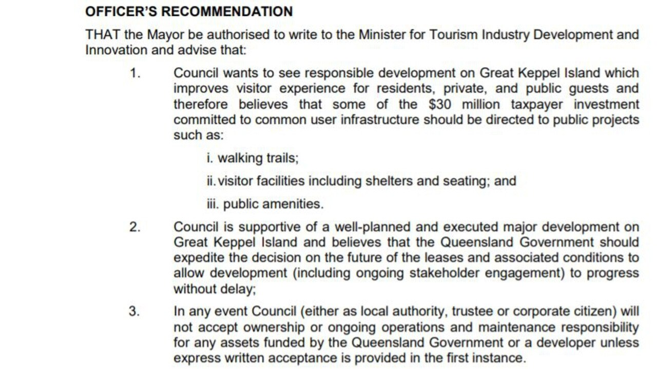The first council submission, which lacked a mover and a seconder.