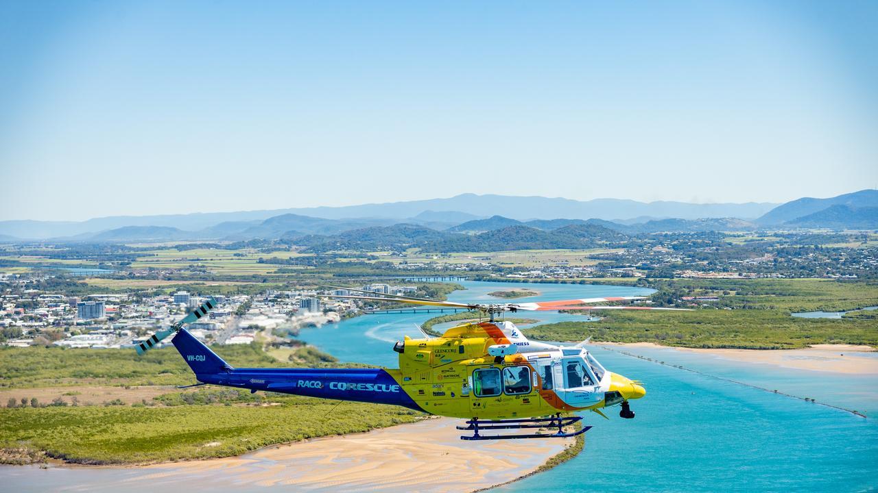 The RACQ CQ rescue helicopter. Picture: RACQ CQ Rescue