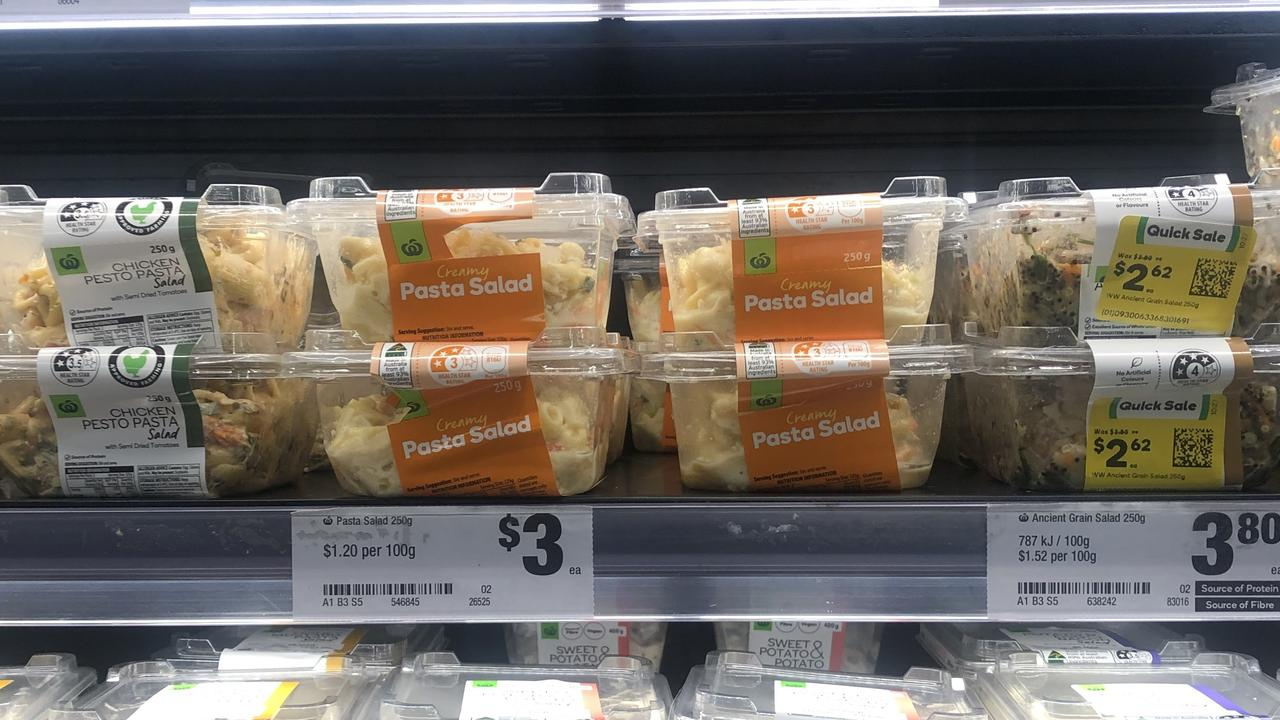Woolworths creamy pasta salad theory: TikTok claims it has TV static aftertaste. Picture: news.com.au