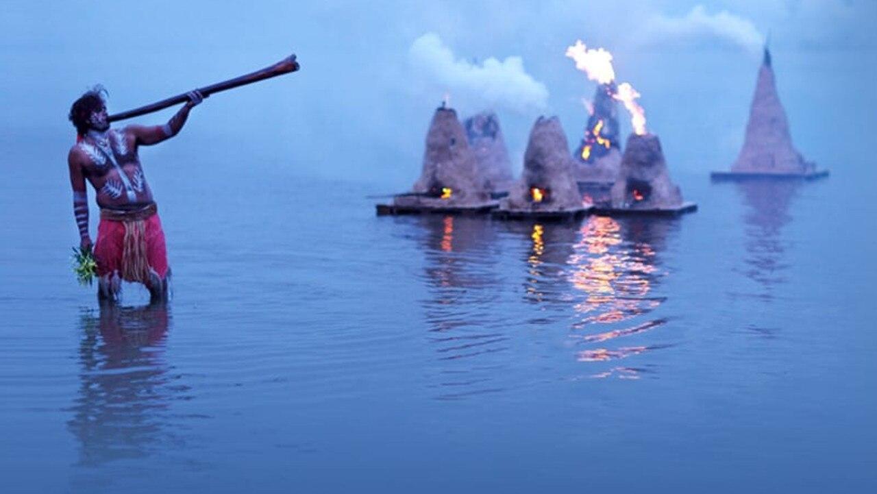 The Floating Land exhibition lights up Lake Cootharaba.
