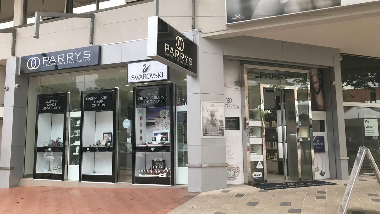 Parry's Jewellers on Harbour Dr, Coffs Harbour was broken into in the early hours of March 1.