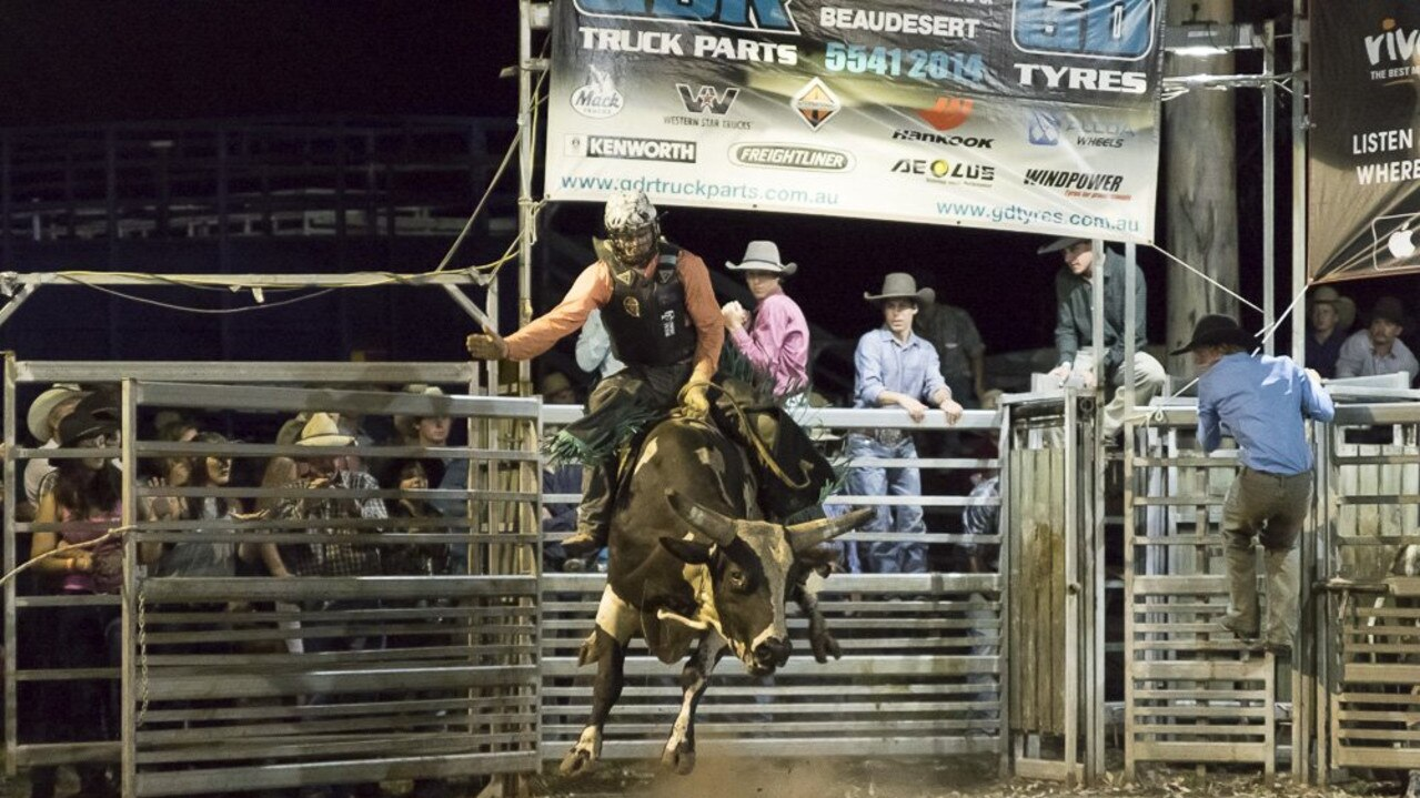 Action from the Mulga Bull Ride, held at the Mulgowie Hotel (file image).