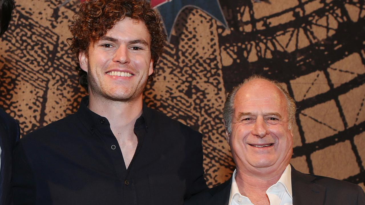 Riptide singer Vance Joy and Michael Gudinski. Picture: Julie Kiriacoudis