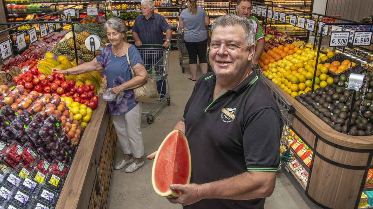 Rob Smith has opened a second Toowoomba Fresh store at the Wilsonton Shopping Centre. Picture: Nev Madsen