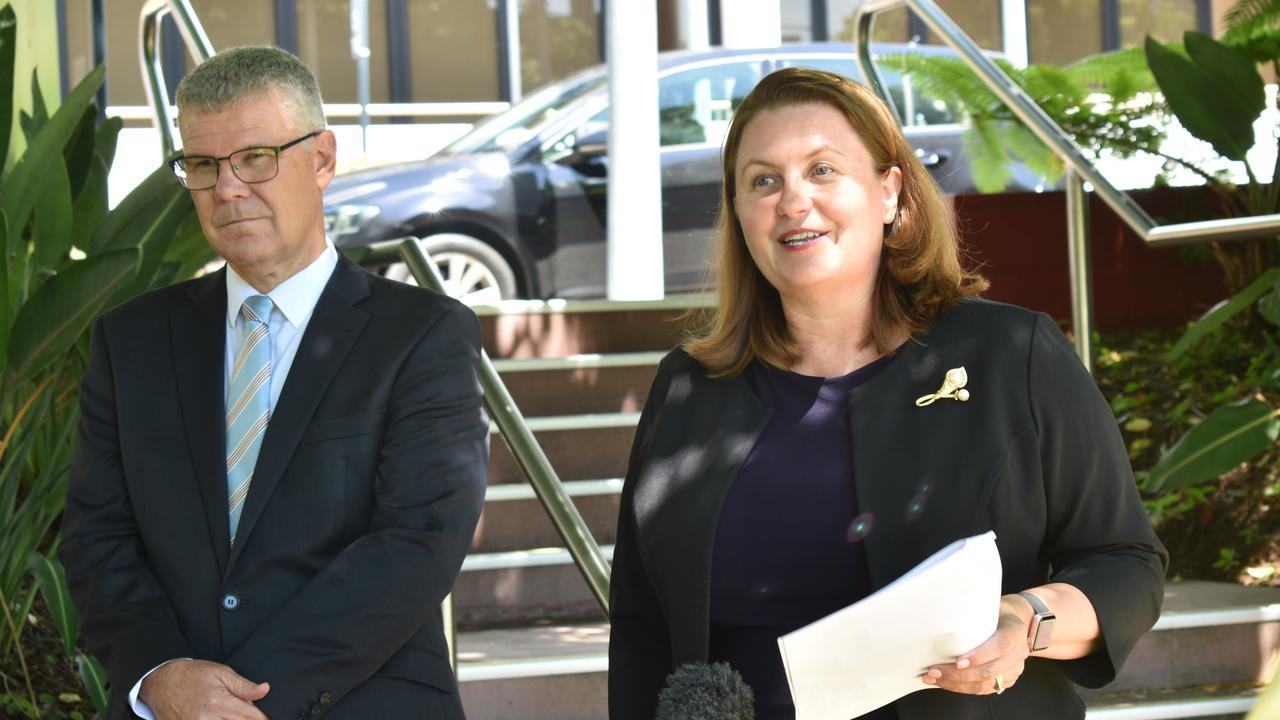 Ipswich City Council CEO David Farmer and Mayor Teresa Harding.